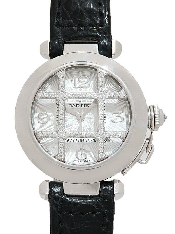 【Cartier】【裏スケ】【WGケース】カルティエ『パシャ32 ダイヤグリッド』WJ11932G ボーイズ 自動巻き 6ヶ月保証【中古】
