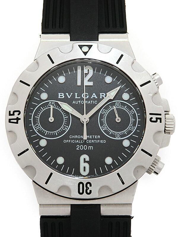 【BVLGARI】ブルガリ『ディアゴノ スクーバ クロノグラフ』SCB38S メンズ 自動巻き 1ヶ月保証【中古】