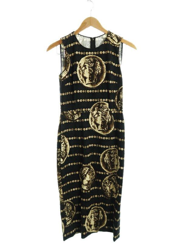 【Dolce&Gabbana】【イタリア製】【ドルガバ】ドルチェアンドガッバーナ『ノースリーブワンピース size40』F6LD0T/FSRDH レディース 1週間保証【中古】