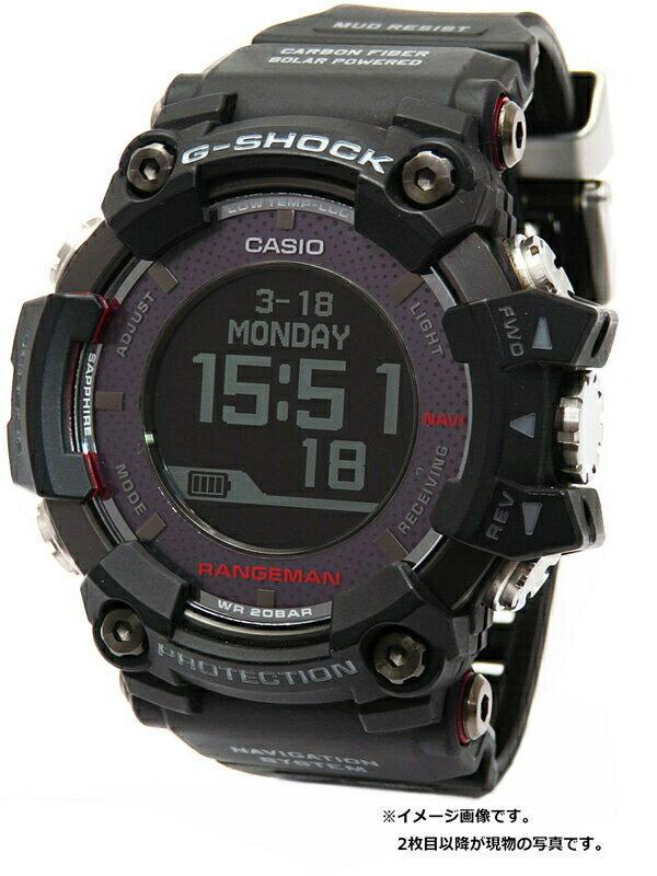 【CASIO】【G-SHOCK】【ソーラーアシストGPSナビゲーション】カシオ『Gショック マスターオブG レンジマン』GPR-B1000-1JR メンズ ソーラー電波GPS【中古】