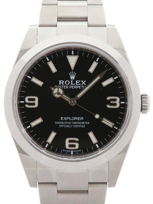 【ROLEX】【'18年購入】【ニューダイアル】【鏡面バックル】ロレックス『エクスプローラー1』214270 ランダム番 メンズ 自動巻き 12ヶ月保証【中古】
