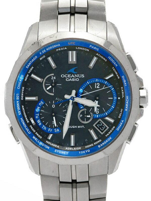 【CASIO】【OCEANUS】カシオ『オシアナス マンタ』OCW-S2400-1AJF メンズ ソーラー電波クォーツ 1週間保証【中古】