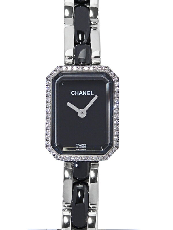 【CHANEL】【電池交換・仕上済】シャネル『プルミエール ダイヤモンドベゼル』H2163 レディース クォーツ 3ヶ月保証【中古】