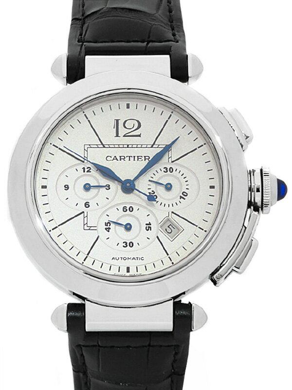 【Cartier】【裏スケ】【'19年メーカーベルト交換済】【内部点検・仕上済】カルティエ『パシャ 42mm クロノグラフ』W3108555 メンズ 6ヶ月保証【中古】