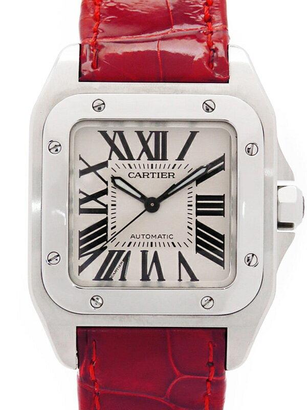 【Cartier】カルティエ『サントス100MM』W20126X8 ボーイズ 自動巻き 6ヶ月保証【中古】