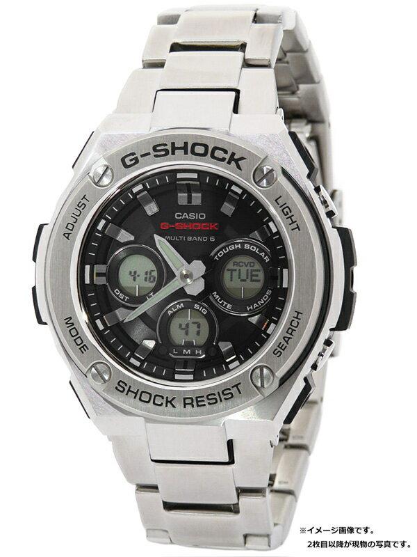 【CASIO】【G-SHOCK】【美品】カシオ『Gショック Gスチール』GST-W310D-1AJF メンズ ソーラー電波クォーツ 1週間保証【中古】