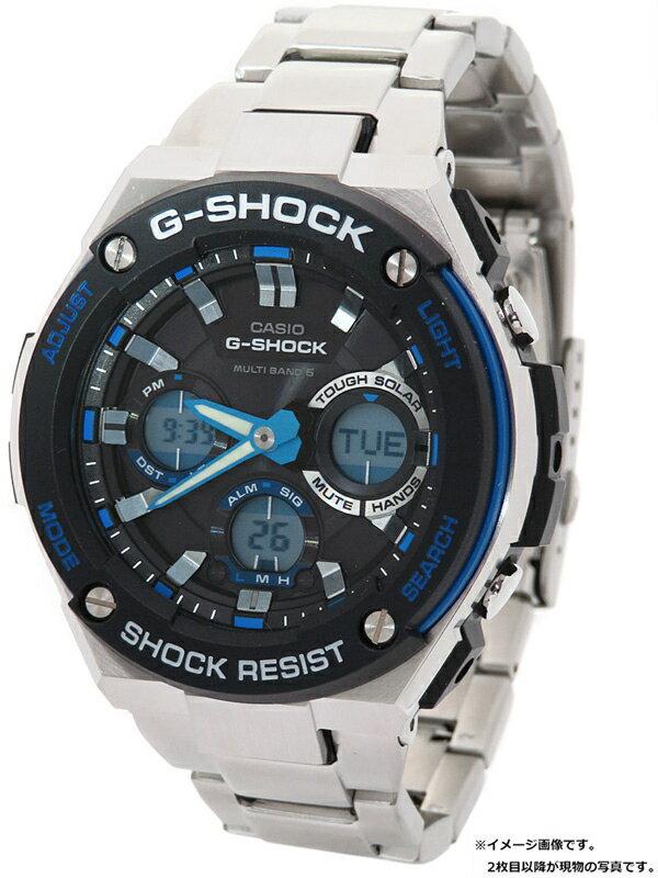 【CASIO】【G-SHOCK】カシオ『Gショック Gスチール』GST-W100D-1A2 メンズ ソーラー電波クォーツ 1週間保証【中古】