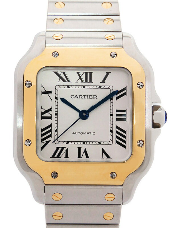 【Cartier】【'19年メーカーコンプリートサービス済】【'18年購入】カルティエ『サントス ドゥ カルティエ MM』W2SA0007 ボーイズ 自動巻き 6ヶ月保証【中古】