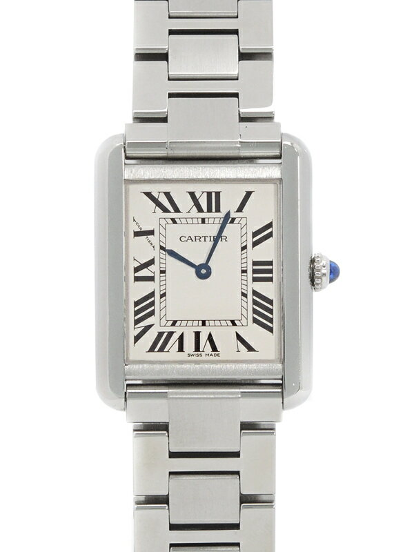 【Cartier】【電池交換・仕上済】カルティエ『タンクソロSM』W5200013 レディース クォーツ 3ヶ月保証【中古】