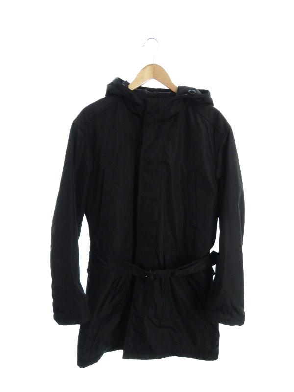 【PRADA】【2007】【イタリア製】【アウター】プラダ『フード付中綿コート sizeM』メンズ 1週間保証【中古】