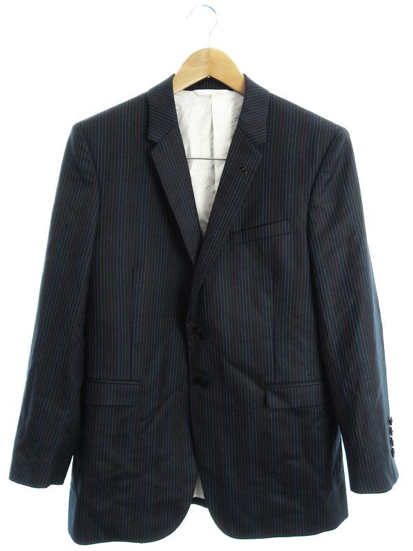 【Paul Smith】【The British Collection】【上下セット】ポールスミス『ストライプ柄スーツ sizeM2』メンズ セットアップ 1週間保証【中古】