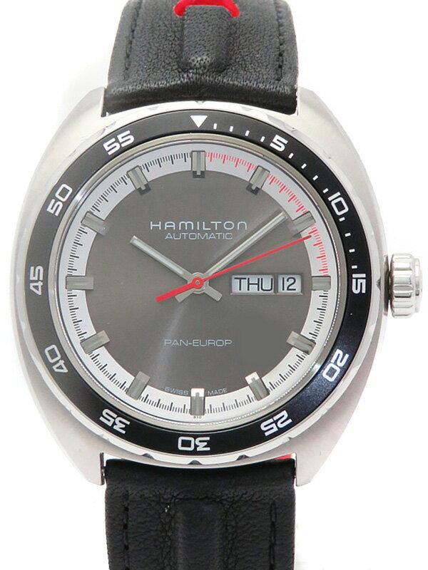 【HAMILTON】【裏スケ】ハミルトン『パンユーロ オート』H35415781 メンズ 自動巻き 1ヶ月保証【中古】