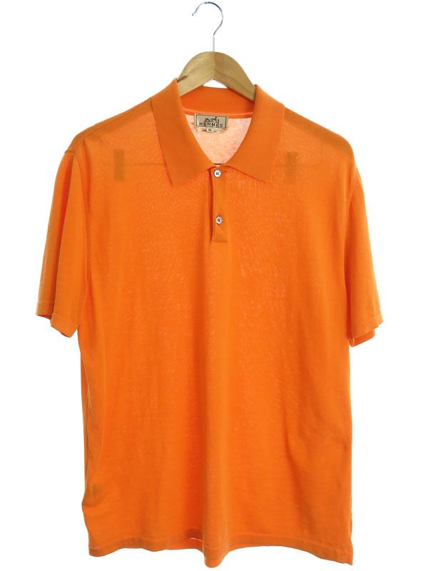 【HERMES】【イタリア製】【トップス】エルメス『半袖ポロシャツ sizeXL』メンズ 1週間保証【中古】