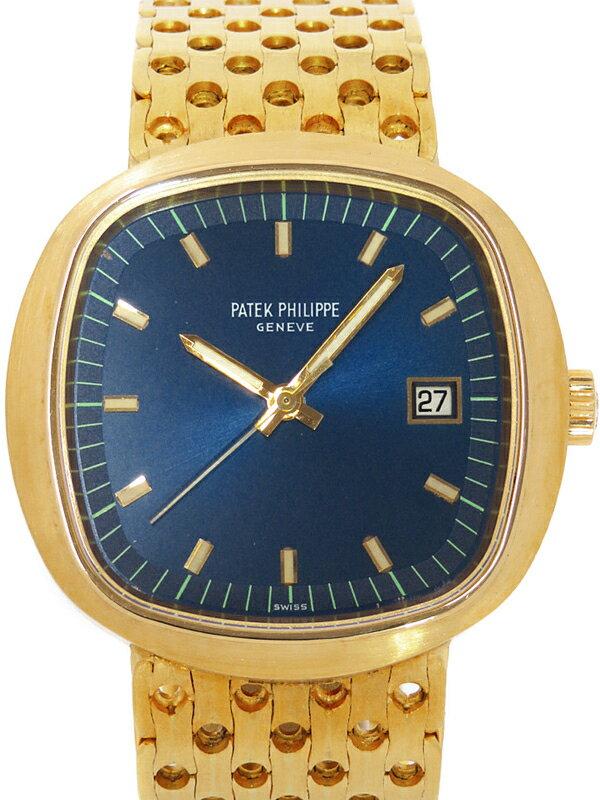 【PATEK PHILIPPE】【YG】【電池交換済】パテックフィリップ『ベータ21』3587/2 メンズ クォーツ 6ヶ月保証【中古】