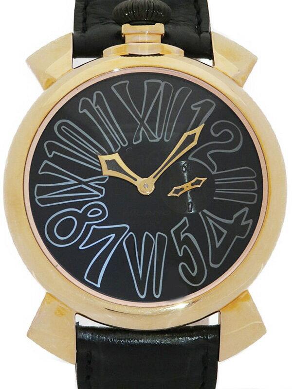 【GaGa MILANO】【電池交換済】【999本限定】ガガミラノ『マヌアーレスリム 46mm ヴェルファイア 別注限定モデル』メンズ クォーツ 1ヶ月保証【中古】