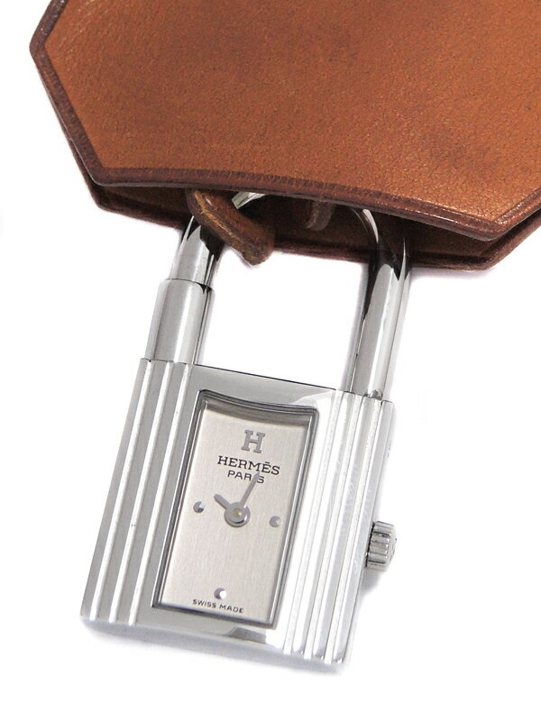 【HERMES】【OH・電池交換・仕上済】エルメス『ケリー クロシェット ウォッチ』KEI.210 ボーイズ クォーツ 1週間保証【中古】