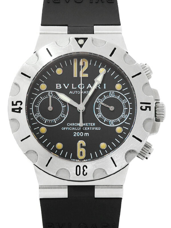 【BVLGARI】ブルガリ『ディアゴノ スクーバ クロノグラフ』SC38S メンズ 自動巻き 3ヶ月保証【中古】