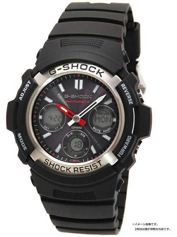 【CASIO】【G-SHOCK】カシオ『Gショック デジアナ』AWG-M100-1A メンズ ソーラー電波クォーツ 1週間保証【中古】