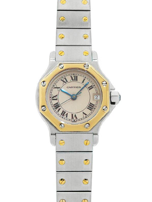 【Cartier】【電池交換・仕上済】カルティエ『サントスオクタゴン』W2001683 レディース クォーツ 1ヶ月保証【中古】