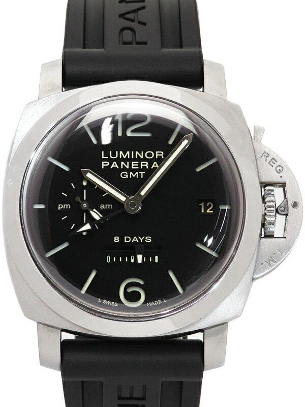 【PANERAI】【裏スケ】パネライ『ルミノール1950 8デイズ GMT』PAM00233 S番'16年製 メンズ 手巻き 6ヶ月保証【中古】
