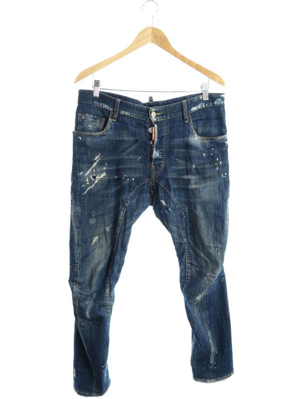 【DSQUARED2】【Tidy Biker Jean】【イタリア製】ディースクエアード『ジーンズ size48』S74LB0259 S30342 2017 02 メンズ デニムパンツ 1週間保証【中古】
