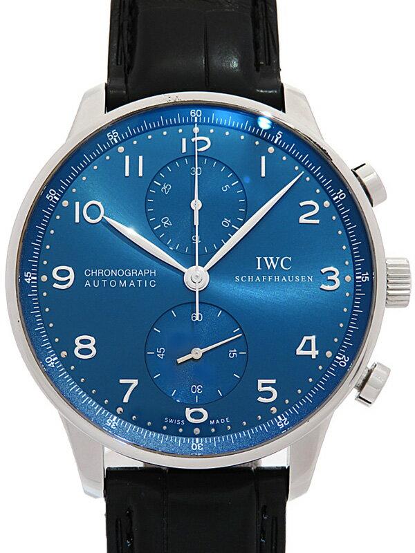 【IWC】【仕上済】【'18年購入】インターナショナルウォッチカンパニー『ポルトギーゼ クロノグラフ』IW371491 メンズ 自動巻き 6ヶ月保証【中古】