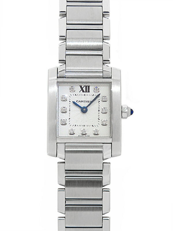 【Cartier】【'19年購入】【仕上済】カルティエ『タンクフランセーズSM 11Pダイヤ』WE110006 レディース クォーツ 6ヶ月保証【中古】