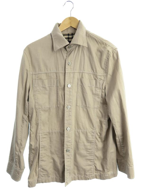 【BURBERRY LONDON】【日本製】【アウター】バーバリーロンドン『シャツジャケット sizeM』BBP51-308-42 メンズ 1週間保証【中古】