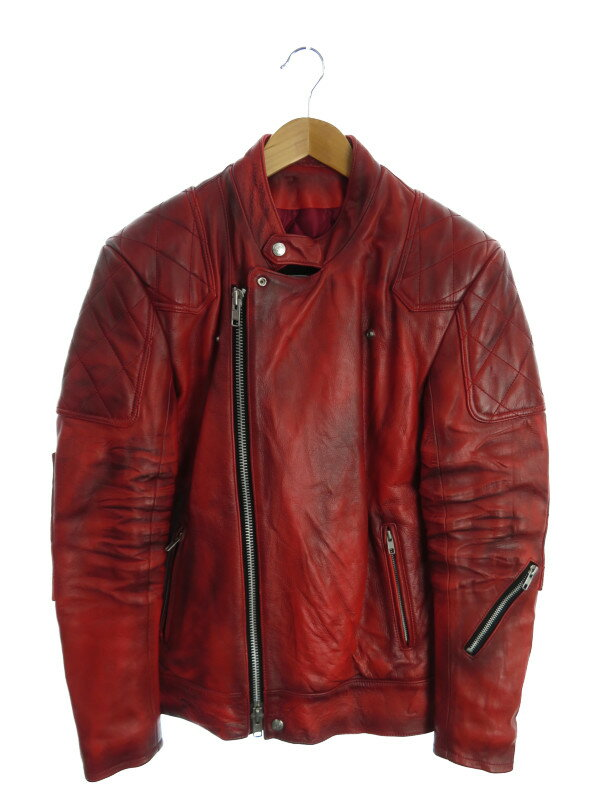 【ALA LEATHER】【アラ】【アウター】ノーブランド『レザージャケット sizeS』メンズ 革ジャン 1週間保証【中古】