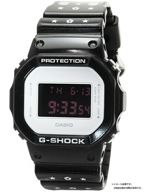 【CASIO】【G-SHOCK×MEDICOM TOY】カシオ『Gショック 30周年記念モデル』DW-5600MT-1JR ボーイズ クォーツ 1週間保証【中古】