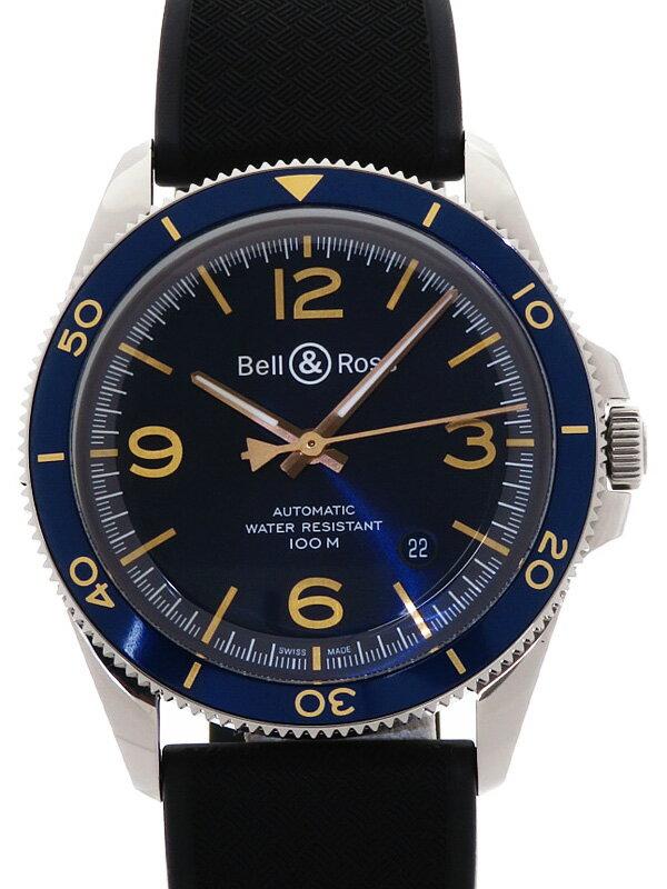 【Bell&Ross】【裏スケ】ベルアンドロス『ヴィンテージ アエロナバル』BRV123-BLU メンズ 自動巻き 3ヶ月保証【中古】