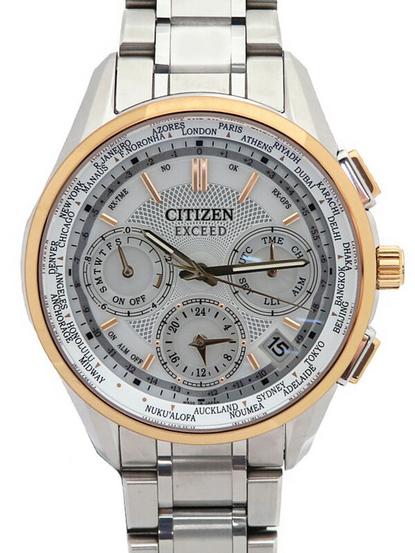 【CITIZEN】シチズン『エクシード』CC9054-52A メンズ ソーラー電波GPS 1ヶ月保証【中古】