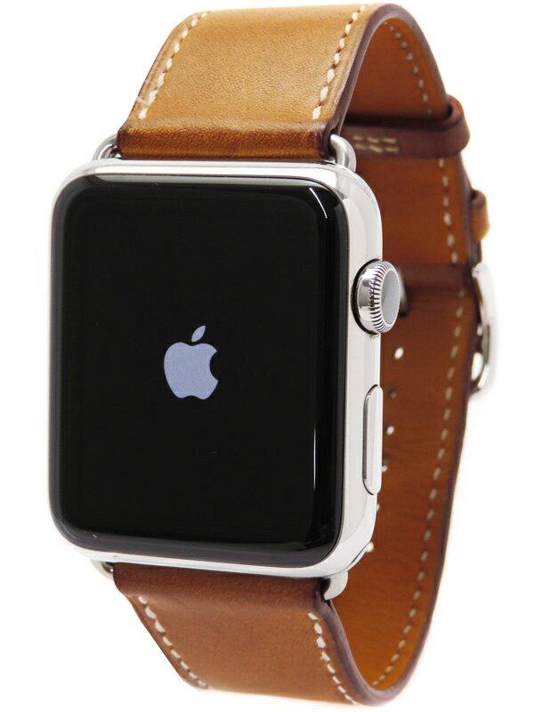 【Apple】【アップルウォッチ】アップル『Apple Watch Hermes 42mm シンプルトゥール』MLCD2J/A メンズ スマートウォッチ 1週間保証【中古】