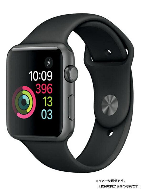 【Apple】【アップルウォッチシリーズ1】アップル『Apple Watch Series1 42mm スペースグレイアルミニウム』MP032J/A スマートウォッチ 1週間保証【中古】