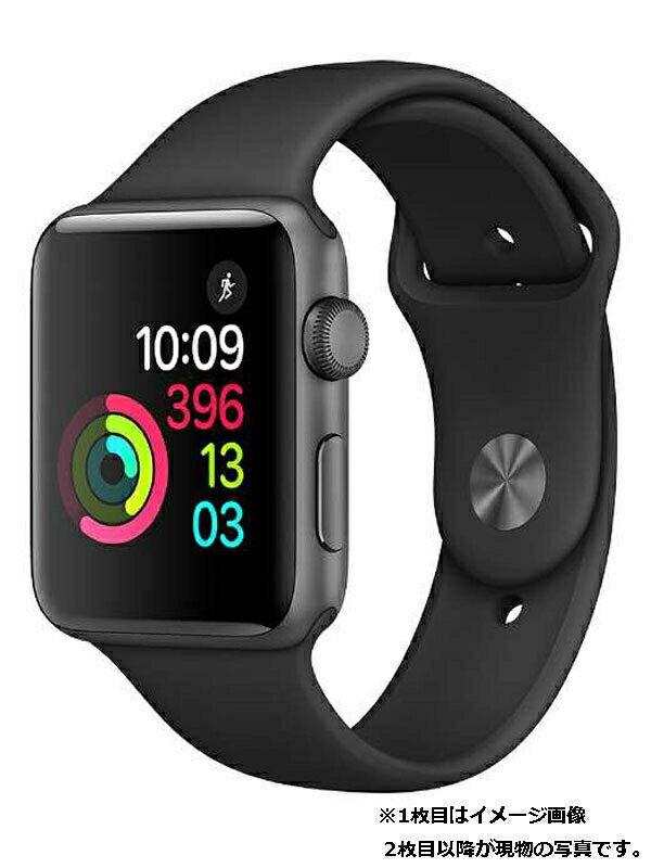 【Apple】【アップルウォッチ シリーズ2】アップル『Apple Watch Series2 42mm ブラックスポーツバンド』MP0G2J/A メンズ スマートウォッチ 1週間保証【中古】