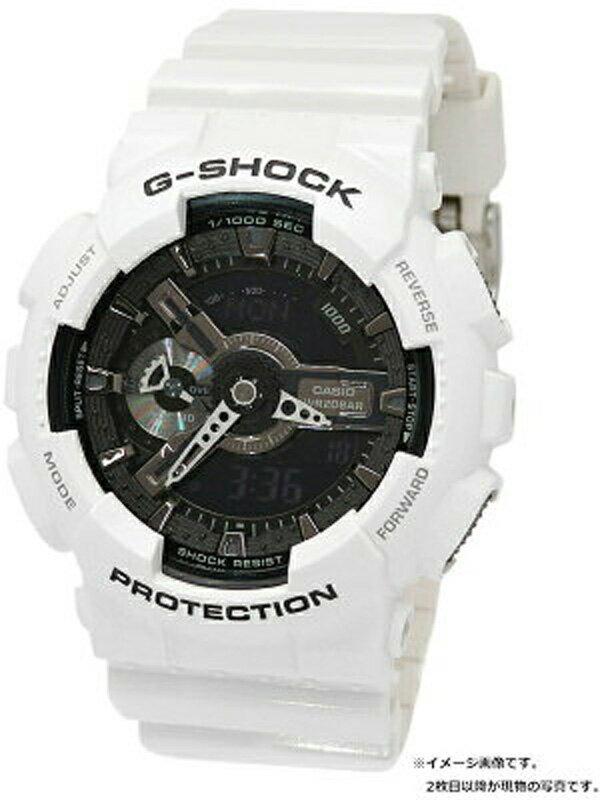 【CASIO】【G-SHOCK】カシオ『Gショック ホワイト&ブラックシリーズ』GA-110GW-7AJF メンズ クォーツ 1週間保証【中古】