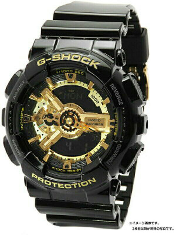 【CASIO】【G-SHOCK】【海外モデル】カシオ『Gショック ブラック×ゴールドシリーズ』GA-110GB-1AER メンズ クォーツ 1週間保証【中古】