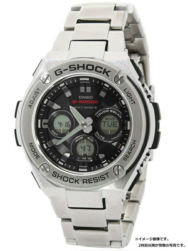 【CASIO】【G-SHOCK】【'19年購入】カシオ『Gショック Gスチール』GST-W310D-1AJF メンズ ソーラー電波クォーツ 1週間保証【中古】