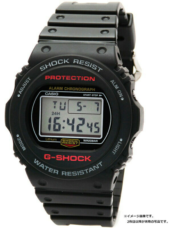 【CASIO】【G-SHOCK】カシオ『Gショック』DW-5750E-1 メンズ クォーツ 1週間保証【中古】