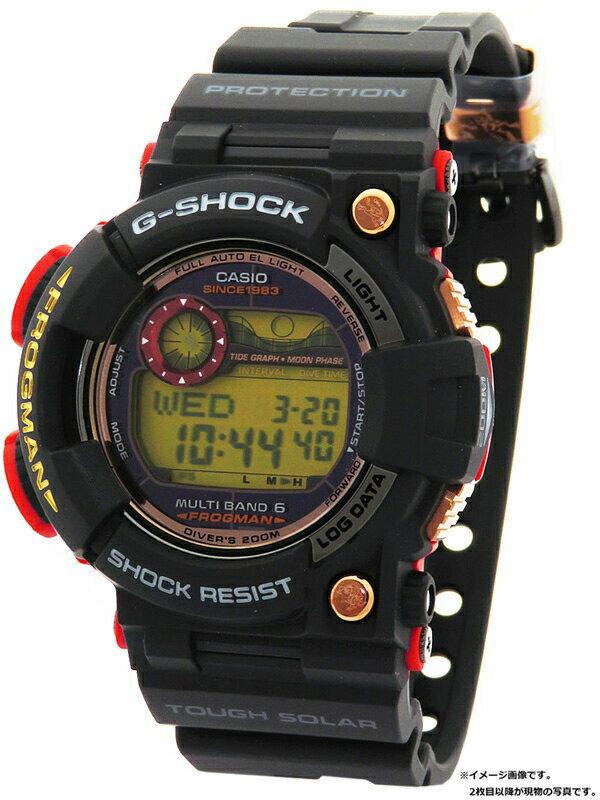 【CASIO】【G-SHOCK】【美品】【'18年購入】カシオ『Gショック フロッグマン マグマオーシャン』GWF-1035F-1JR メンズ ソーラー電波クォーツ 1ヶ月保証【中古】