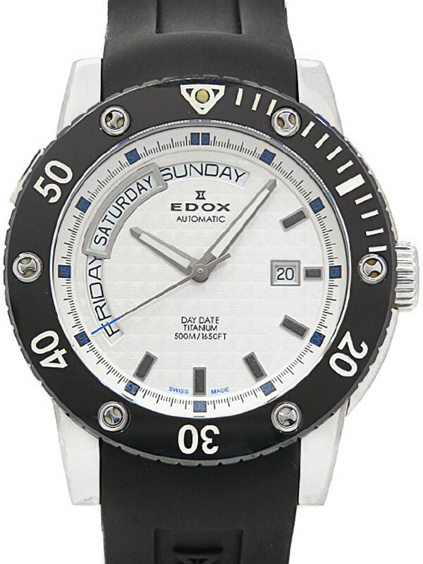【EDOX】【内部点検済】エドックス『クロノオフショア1 デイデイト』83005-TIN-AIN メンズ 自動巻き 1週間保証【中古】
