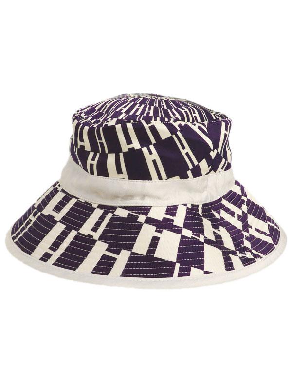 【HERMES】【H柄】【フランス製】エルメス『バケットハット size56』レディース 帽子 1週間保証【中古】