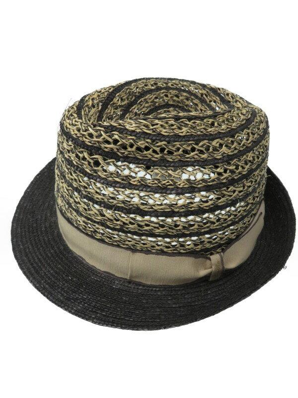 【Borsalino】【イタリア製】【マニラ麻】ボルサリーノ『中折れハット size57』ユニセックス 帽子 1週間保証【中古】