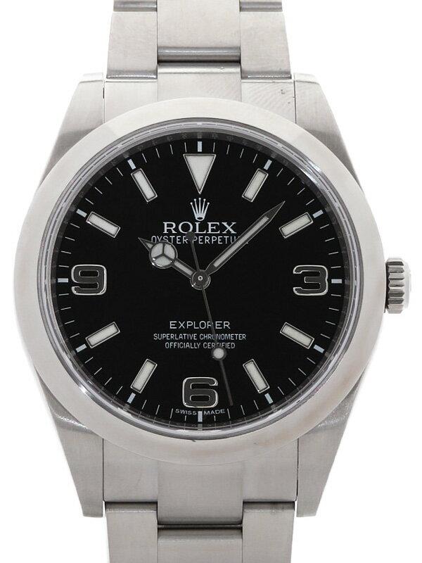 【ROLEX】【'15年購入】【鏡面バックル】【仕上済】ロレックス『エクスプローラー1』214270 ランダム番 メンズ 自動巻き 12ヶ月保証【中古】
