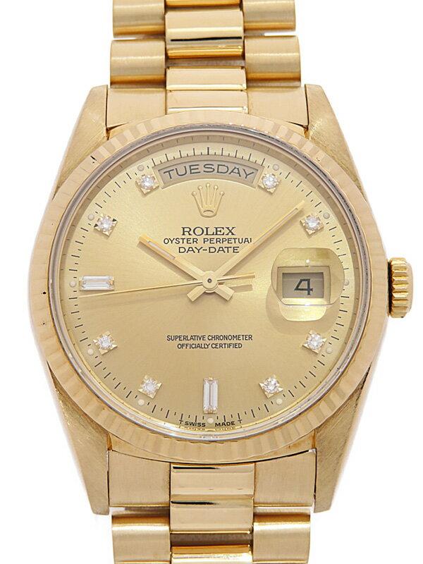 【ROLEX】【仕上済】ロレックス『デイデイト 10Pダイヤ』18238A L番'89年頃製 メンズ 自動巻き 12ヶ月保証【中古】