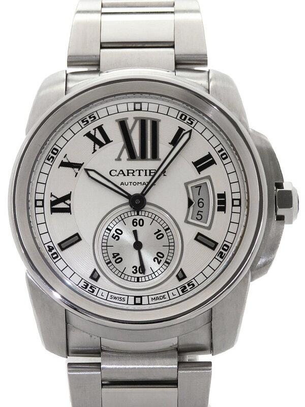 【Cartier】【裏スケ】カルティエ『カリブルドゥカルティエ』W7100015 メンズ 自動巻き 6ヶ月保証【中古】
