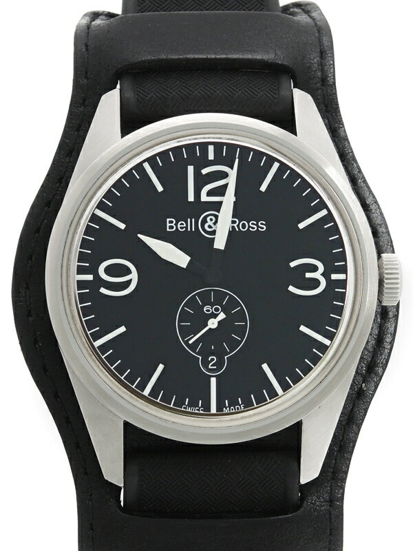 【Bell&Ross】ベルアンドロス『ヴィンテージ オフィサー』BR123-95 メンズ 自動巻き 1ヶ月保証【中古】
