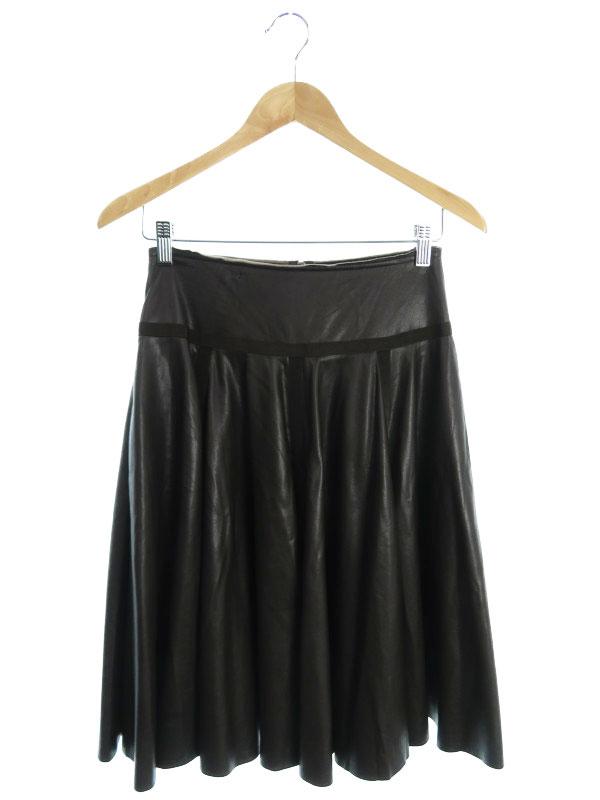【FOXEY NEWYORK】【日本製】【ボトムス】フォクシーニューヨーク『フェイクレザースカート size38』20792-AVAG48 レディース 1週間保証【中古】