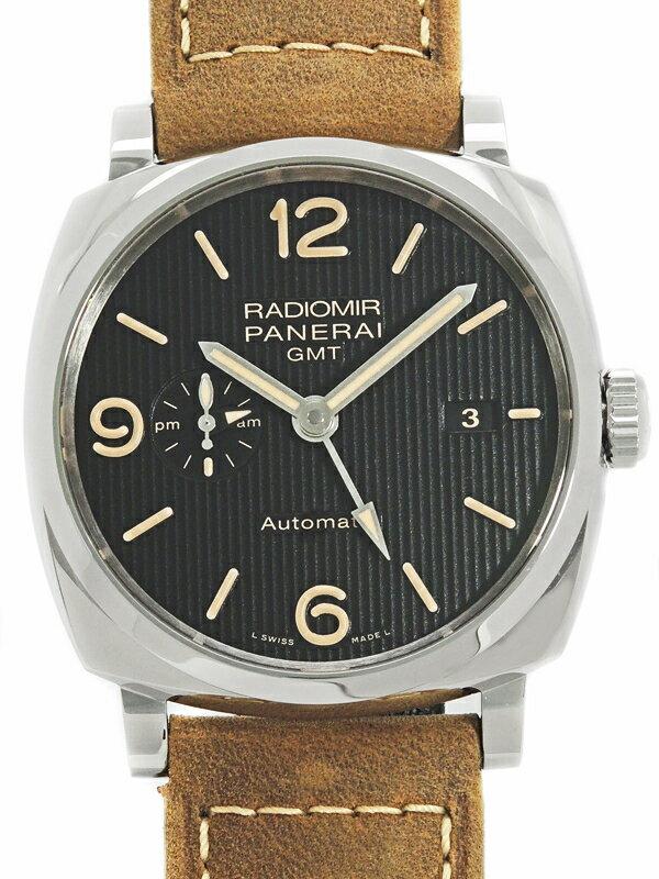 【PANERAI】【裏スケ】パネライ『ラジオミール 1940 3デイズ GMT アッチャイオ』PAM00657 S番'16年製 メンズ 自動巻き 6ヶ月保証【中古】