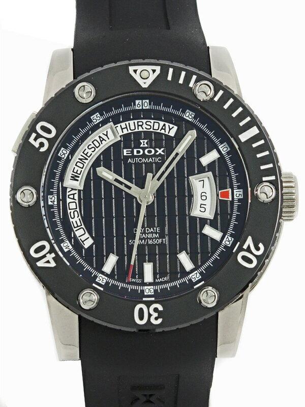 【EDOX】【内部点検済】エドックス『クラスワン デイデイト』83005-TIN-NIN メンズ 自動巻き 1ヶ月保証【中古】